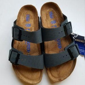 Birkenstock Arizona Basalt Gray Sandals 35